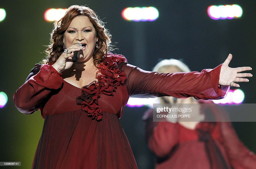 Hera Bjork from Iceland performs the song 'Je Ne Sais Quoi' during the semi-finals of the Eurovision Song Contest in Telenor Arena in Baerum, Norway, on May 25, 2010. The 55th Eurovision Song Contest finale will take place on May 29 in the Telenor Arena in Oslo, after Norwegian Alexander Rydbak took the top prize in Moscow last year with his song 'Fairytale'.