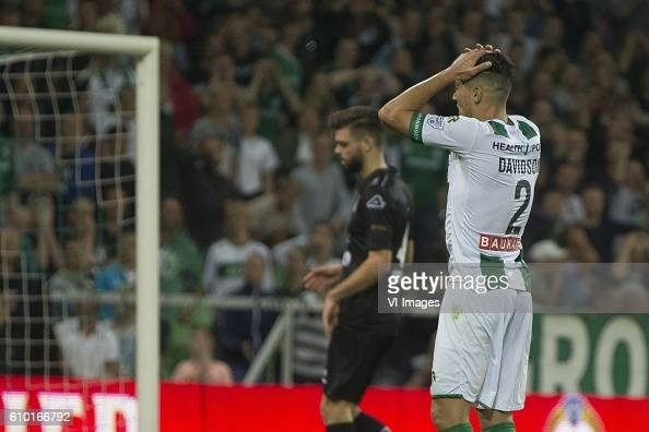 Heracles Almelo Jason Davidson of FC Groningen during the Dutch Eredivisie match between FC Groningen and Heracles Almelo at Euroborg on September 24...