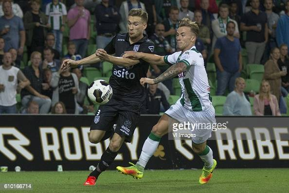 Heracles Almelo Mike te Wierik of Heracles Almelo Albert Rusnak of FC Groningen during the Dutch Eredivisie match between FC Groningen and Heracles...