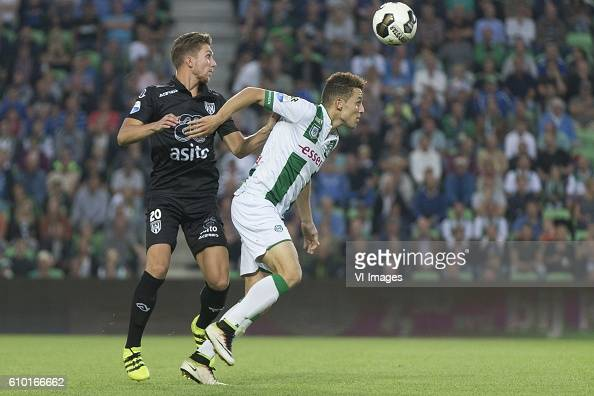 Heracles Almelo Peter van Ooijen of Heracles Almelo Oussama Idrissi of Fc Groningen during the Dutch Eredivisie match between FC Groningen and...