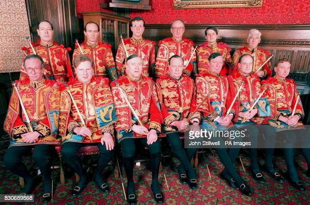Heralds of the Realm back row William Hunt Timothy Siddons Robert Noel John Bedells front row Henry Bedingfield Thomas Woodcock Hubert Chesshyre Sir...