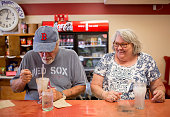 Herb and Dale McMahan enjoy an ice cream soda and a Lime Rickey at the Waltz Soda Fountain on Main Street in Darmariscotta The Soda fountain has been...