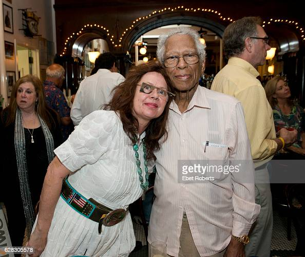 Herb Hardesty and Shmuela Padnos at a tribute to Ernie KDoe in celebration of Ben Sandmel's new biography of Ernie KDoe The event is at the Palm...