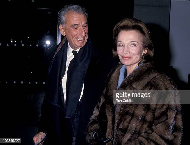 Herb Ross and Lee Radziwill during 'Dangerous Liaisons' New York City Premiere at Museum of Modern Art in New York City New York United States