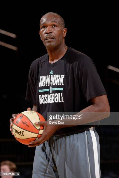 Herb Williams of the New York Liberty before the game against the Minnesota Lynx on August 20 2017 at the Madison Square Garden in New York City New...