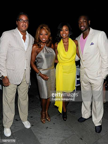 Herb Wilson Star Jones Gabrielle Union and Dwyane Wade attend intimate dinner at Madame Tong's on August 28 2010 in Southampton New York