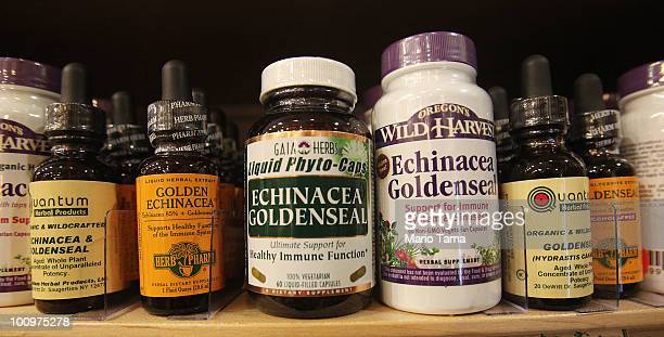 Herbal and dietary supplements are seen for sale in a shop May 26 2010 in New York City A US government probe into herbal and dietary supplements...