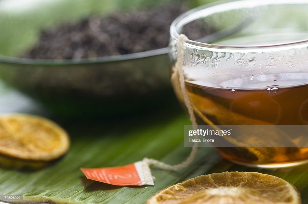 Herbal tea, close-up : Stock Photo