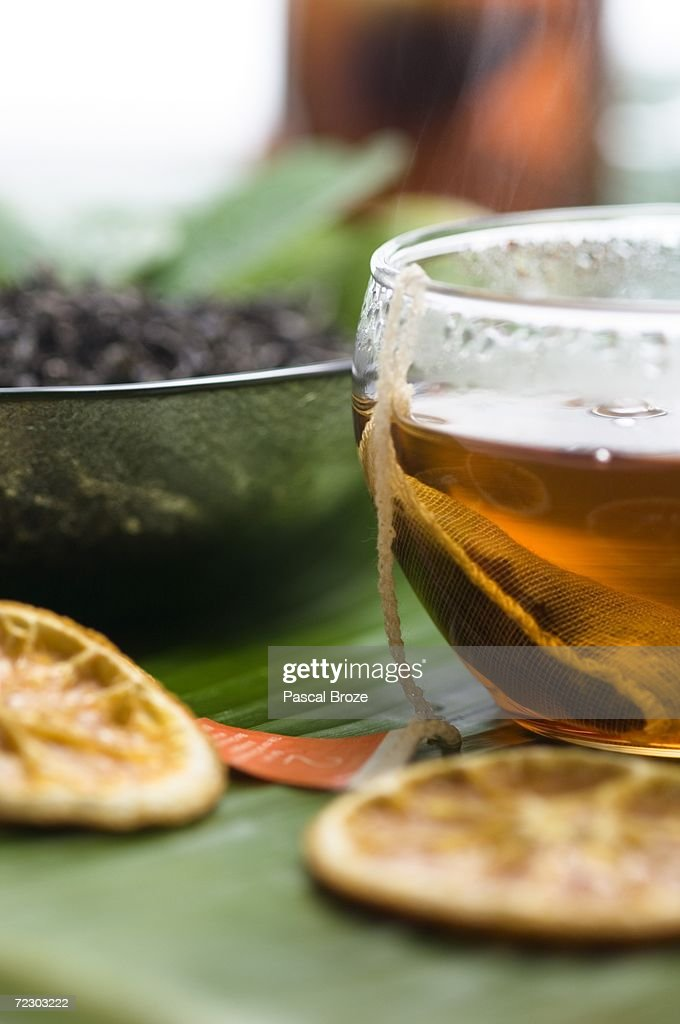 Herbal tea, close-up : Stock Photo