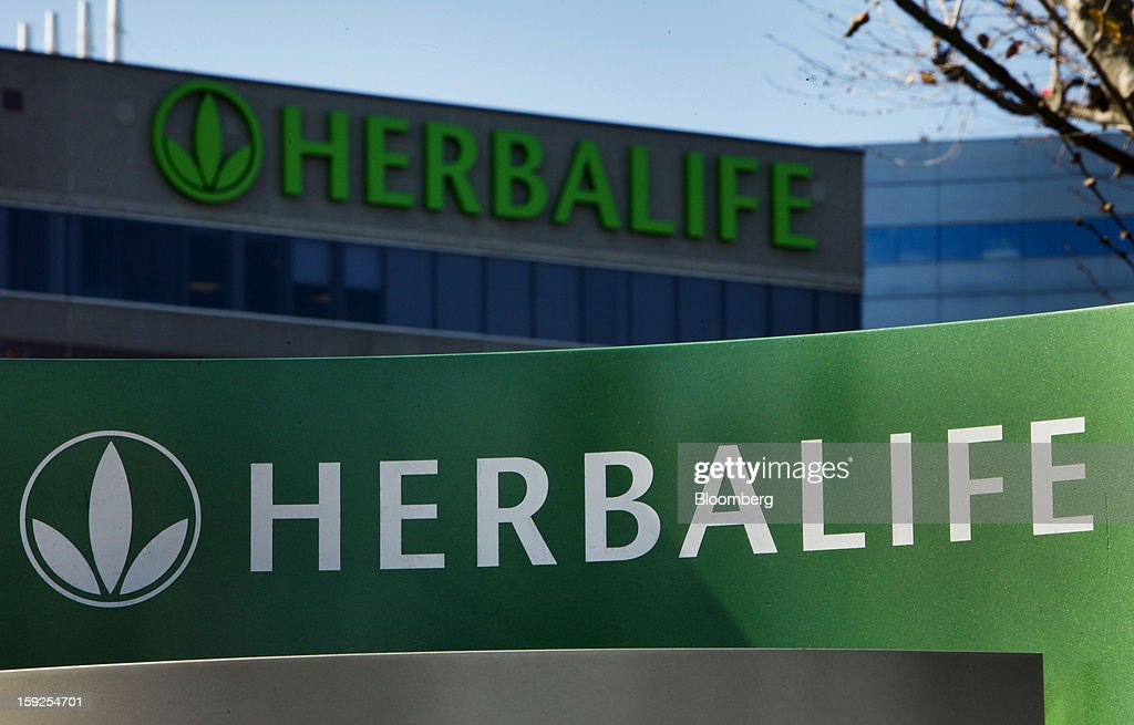 Herbalife Ltd. signage is displayed outside of the company's corporate headquarters in Torrance, California, U.S., on Thursday, Jan. 10, 2013. Daniel Loeb is squaring off against Bill Ackman over the future of Herbalife Ltd. By taking an 8.2 percent stake in the direct seller of nutrition shakes, Loeb's Third Point LLC is the latest firm to reject hedge fund manager Ackman's theory that Herbalife is a pyramid scheme. Photographer: Patrick Fallon/Bloomberg via Getty Images