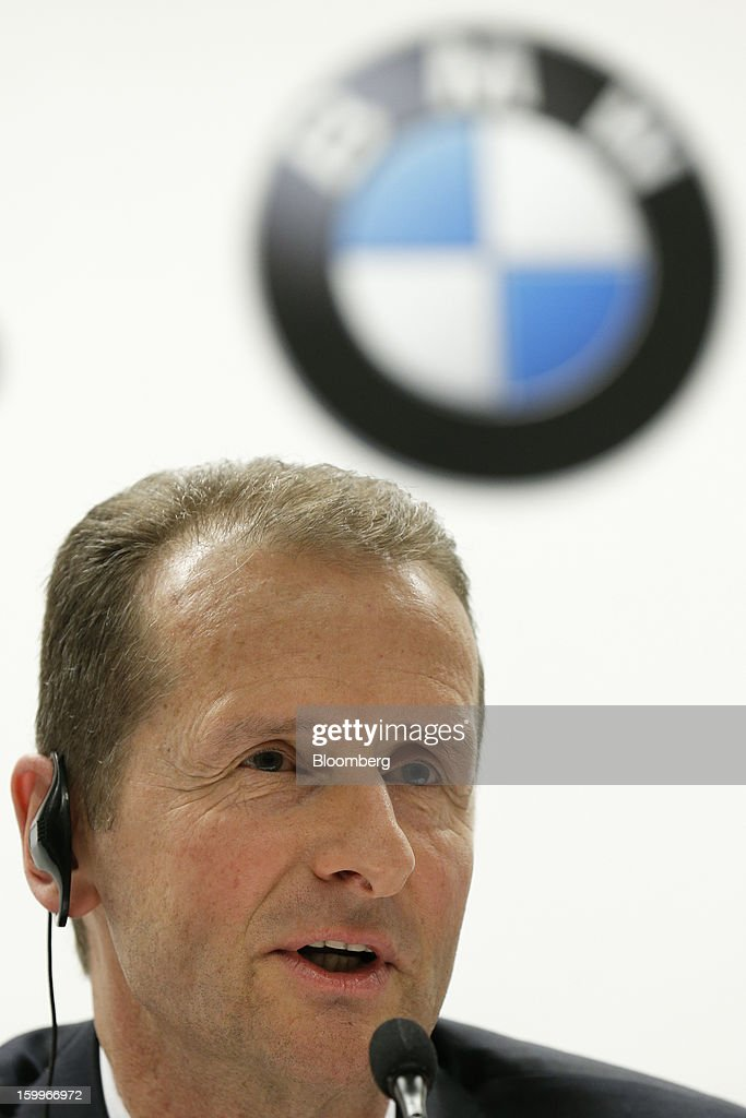 Herbert Diess, development chief of Bayerische Motoren Werke AG (BMW), speaks during a joint news conference with Toyota Motor Corp. in Nagoya, Aichi Prefecture, Japan, on Thursday, Jan. 24, 2013. Toyota, the world's biggest maker of gasoline-electric hybrid vehicles, signed a binding agreement with BMW to jointly develop fuel-cell systems for cars. Photographer: Kiyoshi Ota/Bloomberg via Getty Images