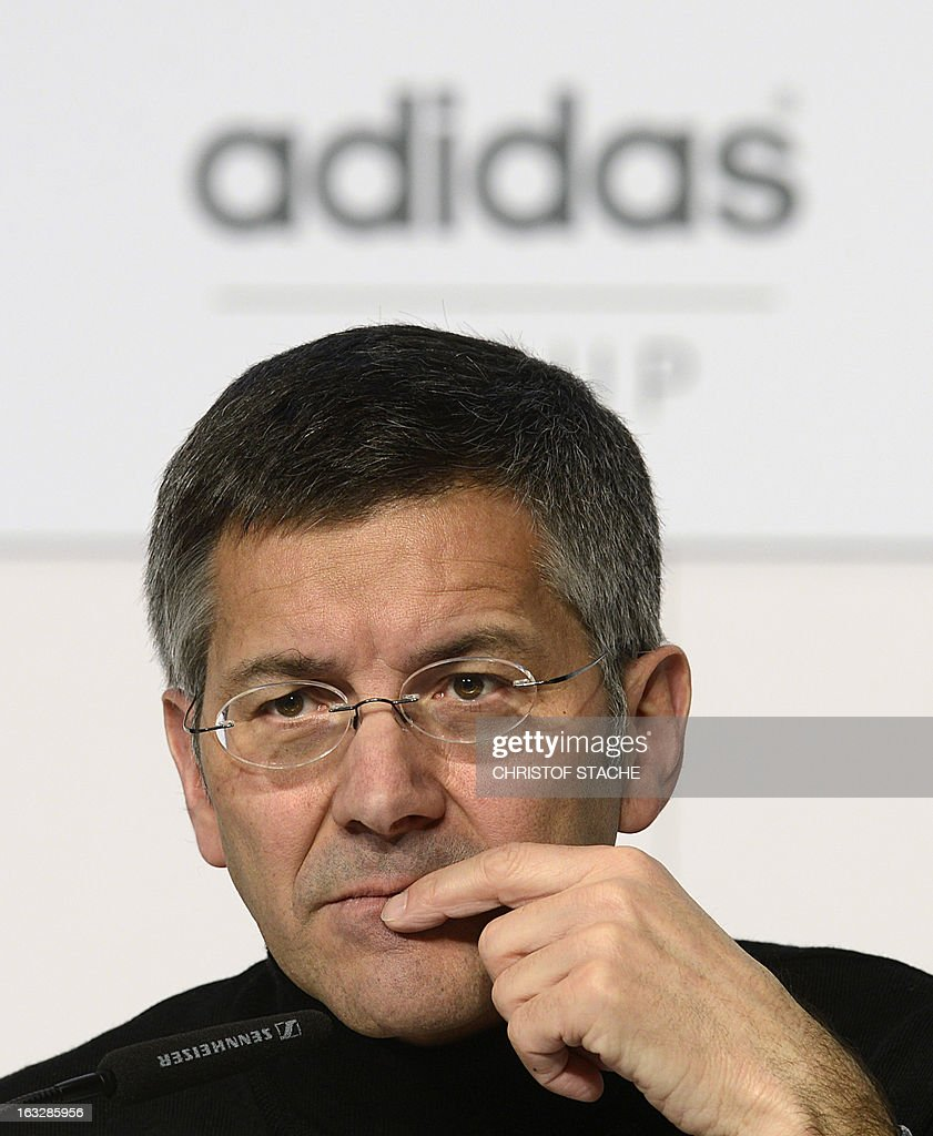Herbert Hainer, CEO of German sportswear and equipment maker Adidas attends the yearly results press conference on March 7, 2013 in Herzogenaurach, southern Germany. Adidas said that one-off writedowns hit its bottom line in 2012, but underlying profits increased due to higher sales.