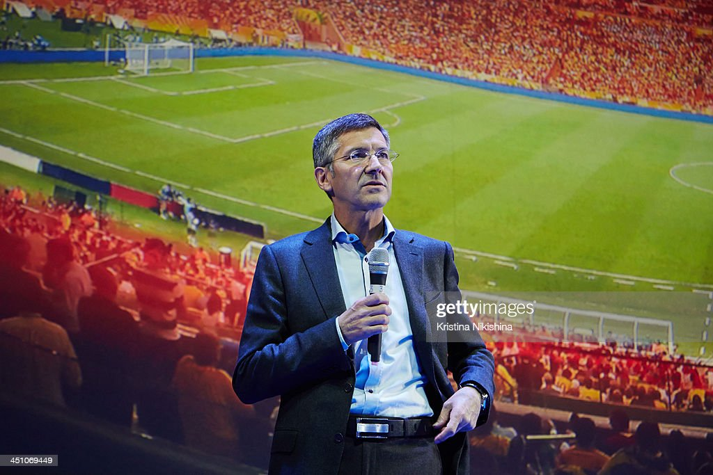 Herbert Hainer, CEO of the adidas Group attends Russia National Team World Cup presentation at Barvikha Concert Hall on November 21, 2013 in Moscow, Russia.