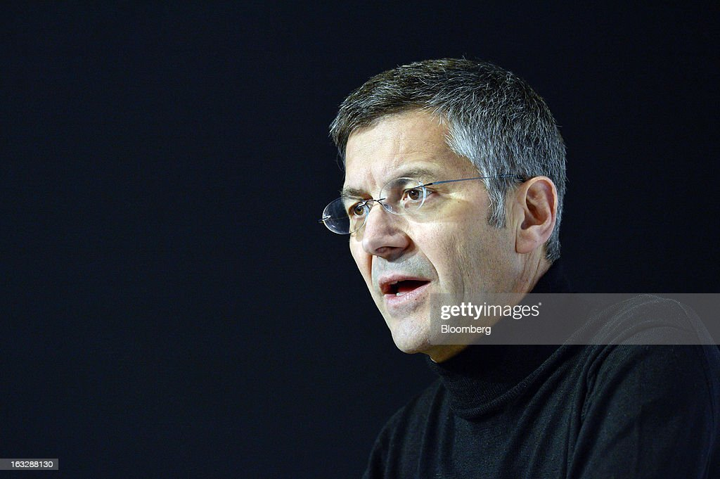 <a gi-track='captionPersonalityLinkClicked' href=/galleries/search?phrase=Herbert+Hainer&family=editorial&specificpeople=543915 ng-click='$event.stopPropagation()'>Herbert Hainer</a>, chief executive officer of Adidas AG, speaks during the company's earnings news conference in Herzogenaurach, Germany, on Thursday, March 7, 2013. Adidas AG, the world's second-largest sporting-goods maker, forecast higher sales and profit this year and raised its dividend by 35 percent as it targets fast-growing emerging markets and introduces new products. Photographer: Guenter Schiffmann/Bloomberg via Getty Images