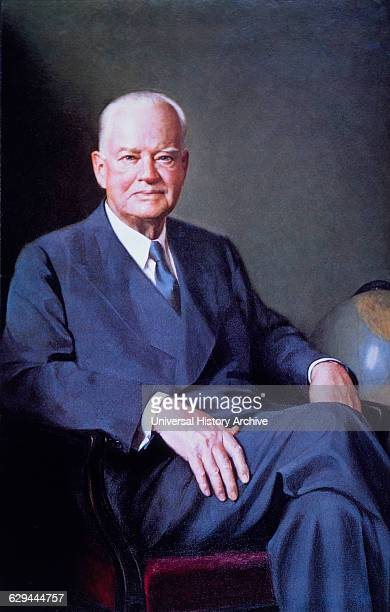 Herbert Hoover 31st President of the United States of America Official White House Portrait 1929