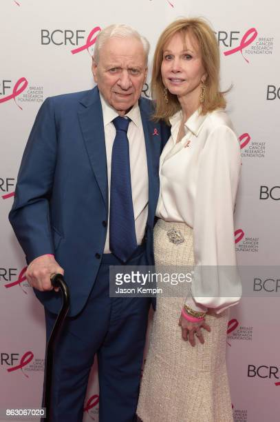 Herbert J Siegel and Jeanne Sorensen Siegel honorees of the Sandra Taub Humanitarian Award arrives at the Breast Cancer Research Foundation New York...