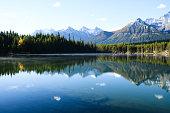 Herbert Lake in Autumn Morning, Canadian Rockies (Canada)