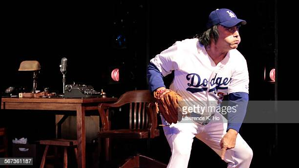 CITY CA JAN 26 2015 Herbert Siguenza in the role of 'Fernando Valenzula' in the dress rehearsel of the play 'Chavez Ravine' by Culture Clash with...