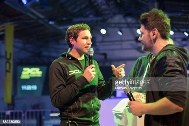Herbert Weirather gives an interview at Station Berlin during the DCL Drone Champions League Championship Finals in Berlin on December 02 2017 in...