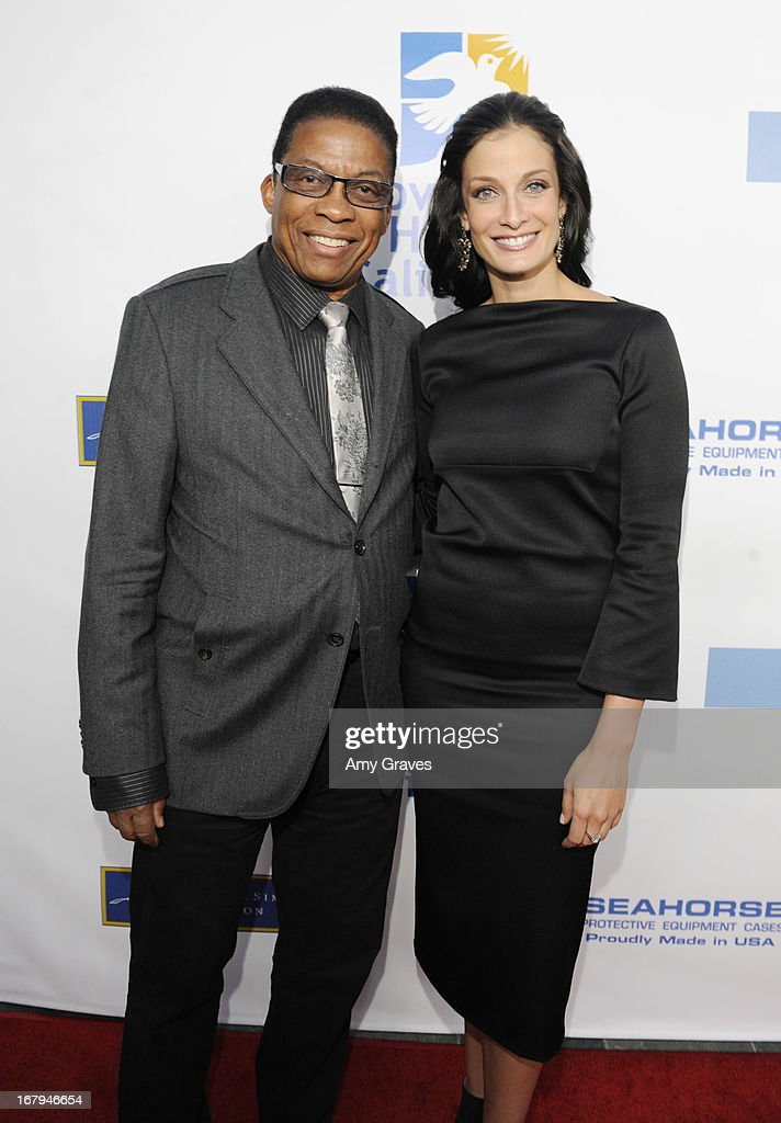 Herbie Hancock and Dayanara Torres attend A Magical Night of Hope at Skirball Cultural Center on May 2, 2013 in Los Angeles, California.