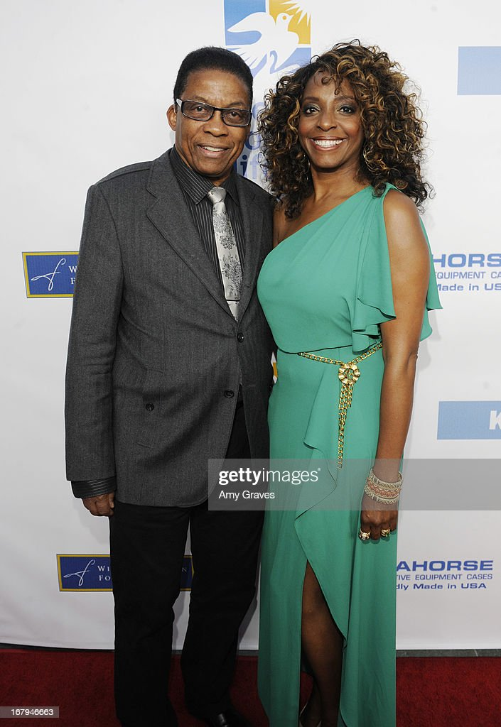 Herbie Hancock and Kandace Lindsey attend A Magical Night of Hope at Skirball Cultural Center on May 2, 2013 in Los Angeles, California.