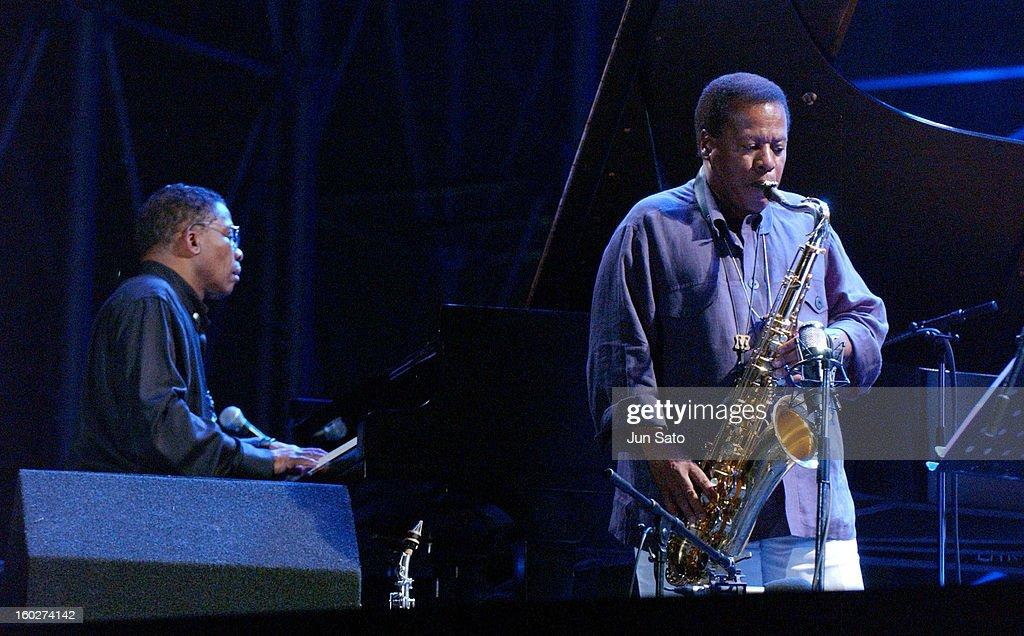 Herbie Hancock and Wayne Shorter during Tokyo Jazz 2004 - Future World at Tokyo Big Sight in Tokyo, Japan.
