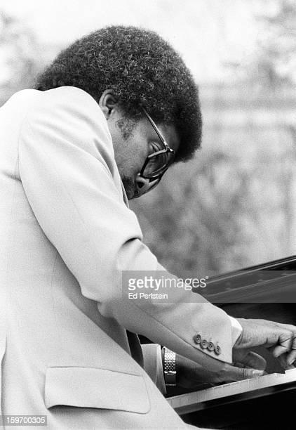 Herbie Hancock performs during the Berkeley Jazz Festival at the Greek Theatre in May 1978 in Berkeley California