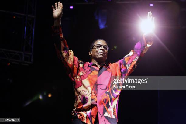 Herbie Hancock performs on stage at Arena Santa Giuliana during Umbria Jazz Festival on July 7 2012 in Perugia Italy