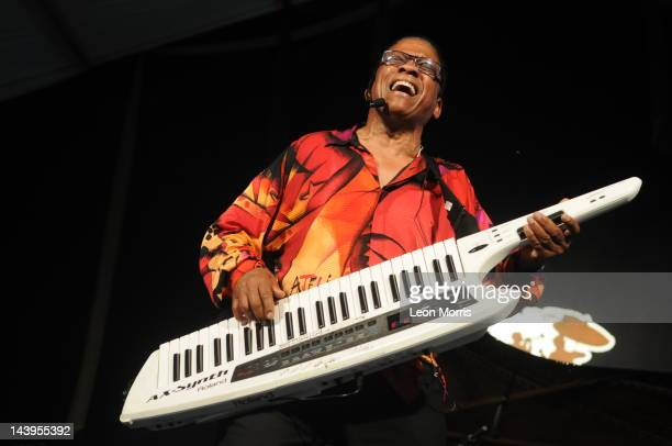 Herbie Hancock performs on stage during New Orleans Jazz Heritage Festival on May 5 2012 in New Orleans United States