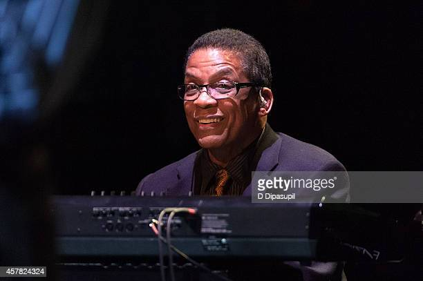Herbie Hancock performs onstage during The Jazz Foundation Of America's 13th Annual 'A Great Night In Harlem' Gala Concert at The Apollo Theater on...