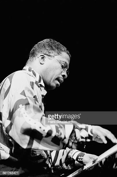 Herbie Hancock piano performs on July 10th 1993 at the North Sea Jazz Festival in the Hague Netherlands