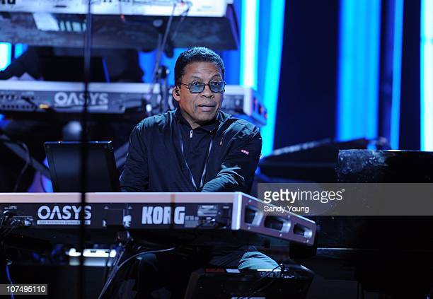 Herbie Hancock rehearses for the Nobel Peace Prize Concert at the Oslo Spektrum on December 9 2010 in Oslo Norway