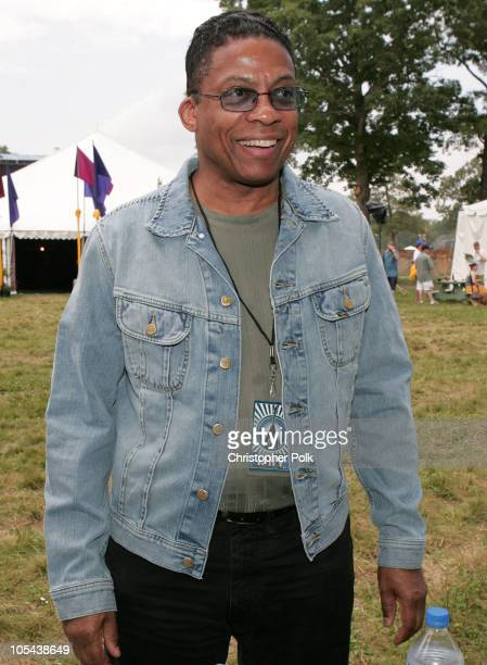 Herbie Hancock visits the LEE Jeans tent at Bonnaroo Lee Jeans had artists sign jean pockets to be auctioned at 'Lee National Denim Day' with...
