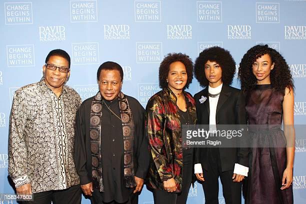 Herbie Hancock Wayne Shorter Terri Lyne Carrington Esperanza Spalding and Corinne Bailey Rae attend The David Lynch Foundation Hosts 'An Intimate...