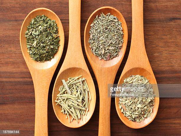 Herbs and spoons