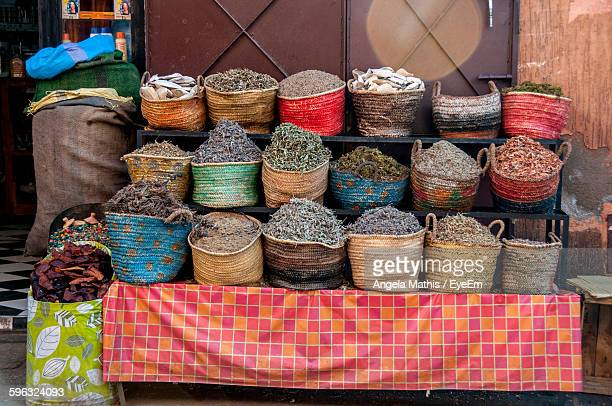 Herbs In Basket On Display For Sale