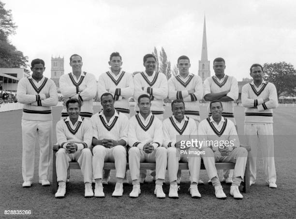 Here are twelve members of the West Indies cricket team currently touring England L to R Back row BBBUTCHER JLHENDRICKS MCCAREW R BRANKER P LASHLEY S...