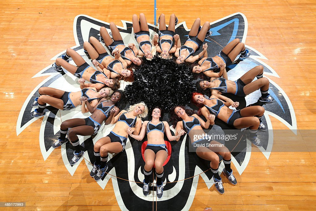 Here is a photograph of the Minnesota Timberwolves Dance Team prior to the game against the Utah Jazz during the game on April 16, 2014 at Target Center in Minneapolis, Minnesota.
