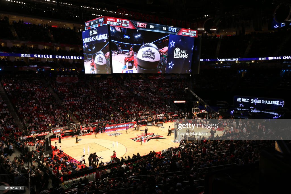 Here is a wide-angle shot from the 2013 Taco Bell Skills Challenge on State Farm All-Star Saturday Night as part of 2013 NBA All-Star Weekend on February 16, 2013 at Toyota Center in Houston, Texas.