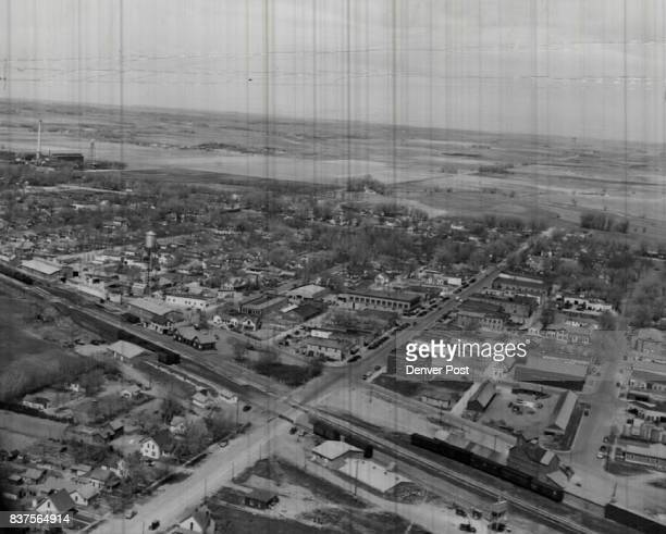 Here is an aerial view of Mitchell Neb the bustling town which regards itself as a hub and business barometer for the entire fertile North Platte...