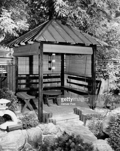 Here is an authentically designed Japanese teahouse for that picturesque spot in the yard The posts are 6V2 feet high and the teahouse is 10 feet...