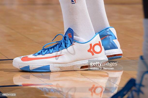 Here is Kevin Durant sneaker's shot of the Oklahoma City Thunder against the Los Angeles Clippers in Game 5 of the Western Conference Semifinals...