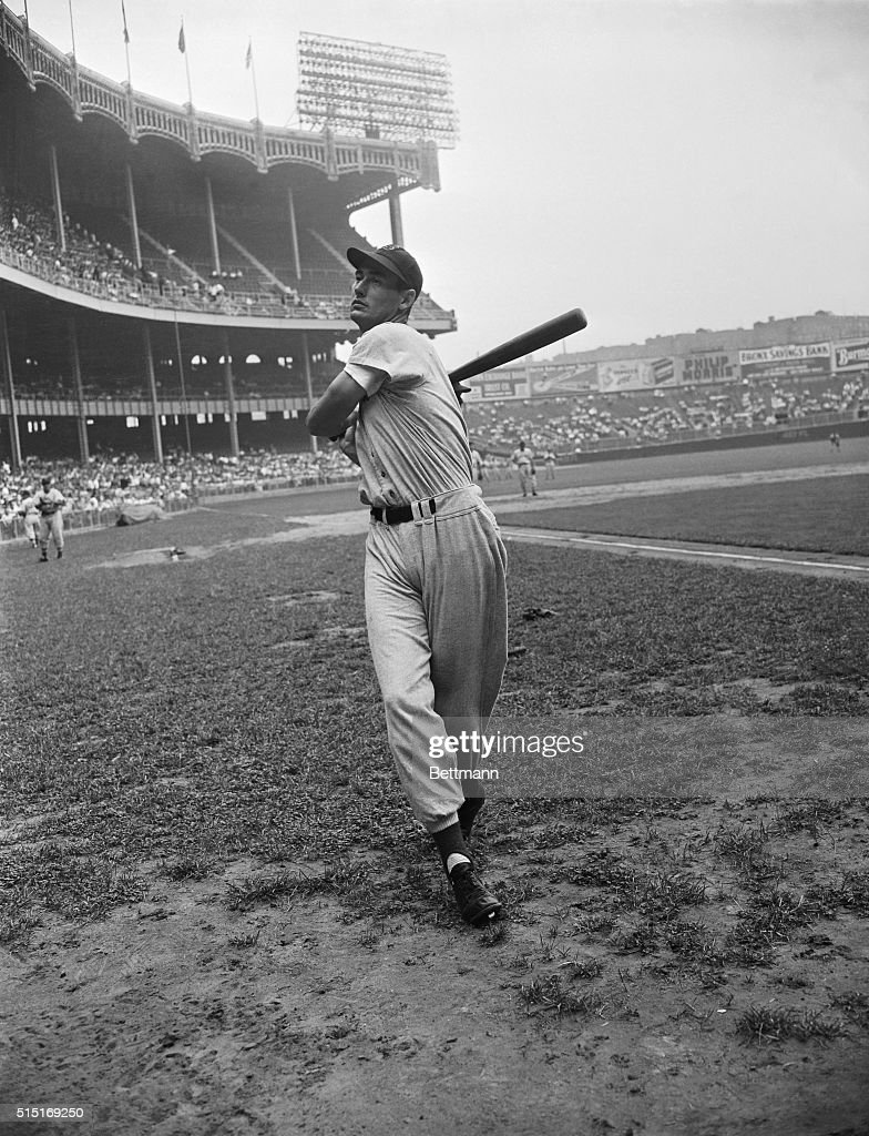 Here is Ted Williams outfielder for the Boston Red Sox winners of the 1946 American League pennant