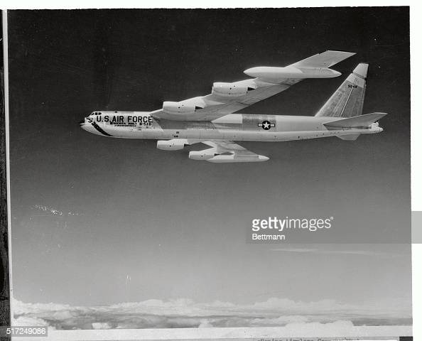 Here is the Boeing B52 Stratofortress winner of the 1956 Collier Trophy which is awarded annually for 'The Greatest Achievement in Aviation in...