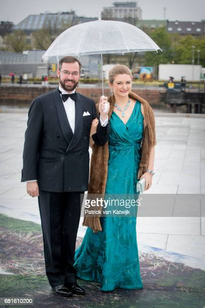 Hereditary Grand Duke Guillaume and Hereditary Grand Duchess Stephanie arrive at the Opera House on the ocassion of the celebration of King Harald...