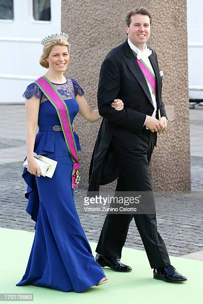 Hereditary Princess Kelly of SaxeCoburg and Gotha Hereditary Prince Hubertus of SaxeCoburg and Gotha depart for the travel by boat to Drottningholm...