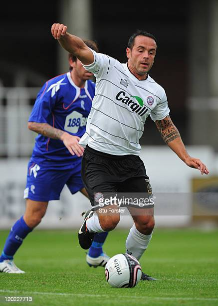 Hereford player Ryan Green in action during the pre season friendly between Hereford United and Bolton Wanderers at Edgar Street on August 1 2011 in...