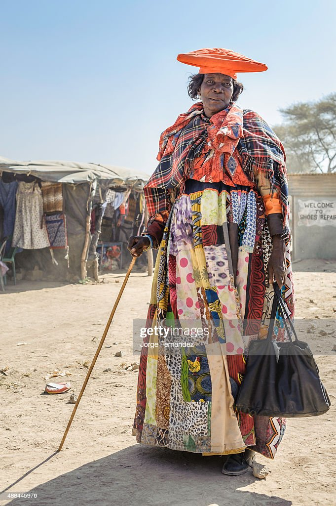 Herero woman dressed with a traditional attire