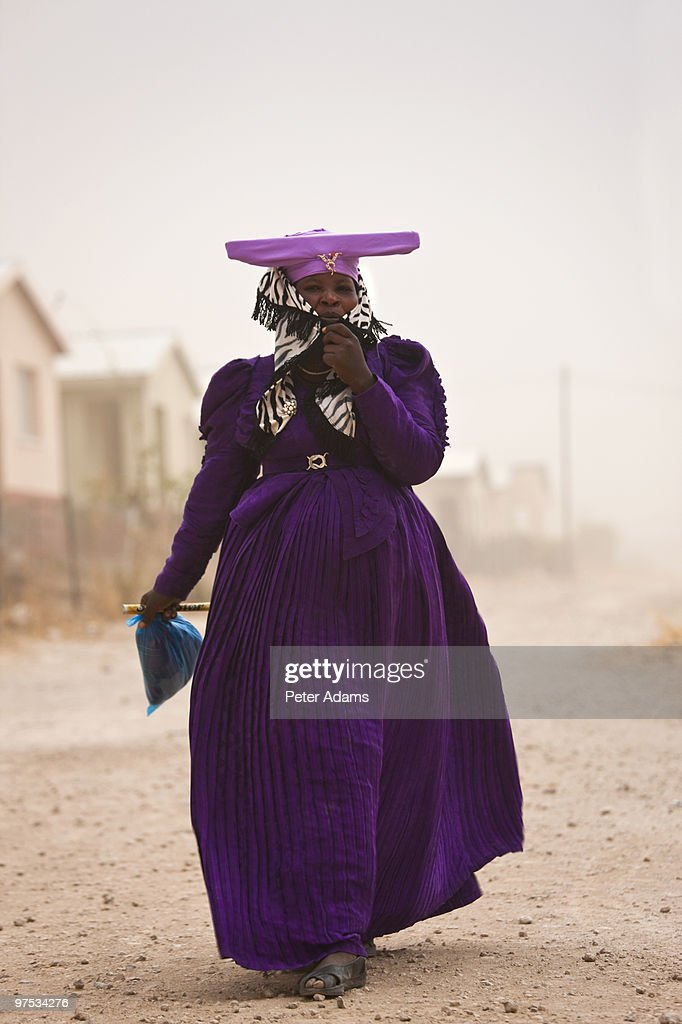 Herero Woman, Opuwo, Namibia : Stock Photo