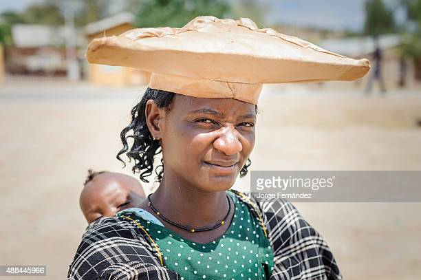 Herero woman with child